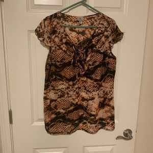 Women's worthington 1X blouse